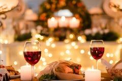 Nourriture romantique d'amour de date de dîner Photographie stock
