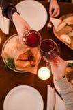 Nourriture romantique d'amour de date de dîner Images libres de droits