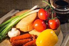 Nourriture rustique Photo stock