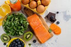 Nourriture saine bonne pour des yeux photo stock