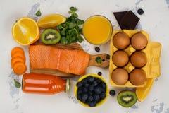 Nourriture saine bonne pour des yeux images libres de droits