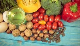 Nourriture saine, concept suivant un régime E photographie stock libre de droits