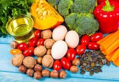 Nourriture saine, concept suivant un régime E photo stock
