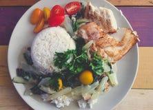 Nourriture saine délicieuse sur l'affichage Photographie stock