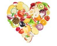 Nourriture saine d'amour Images libres de droits