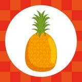 Nourriture saine de fruit frais d'ananas illustration libre de droits