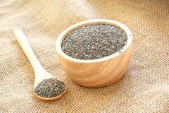 Nourriture saine de graine de Chia image stock