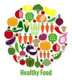 Nourriture saine de légumes illustration stock