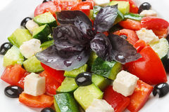 Nourriture saine de restaurant - salade grecque Image libre de droits