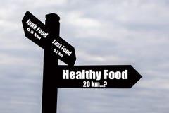 Nourriture saine - dur pour trouver ? Images libres de droits