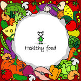 Nourriture saine en cercle Photos libres de droits