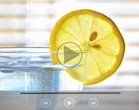 Nourriture saine et clip vidéo de boissons Photographie stock libre de droits
