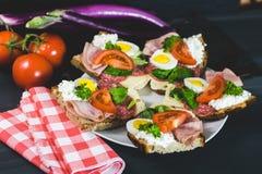 Nourriture saine et colorée de saison Photographie stock