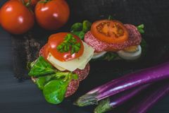Nourriture saine et colorée de saison Photos stock