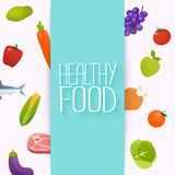 Nourriture saine et concept suivant un régime Frais et natu organiques sains Photos libres de droits