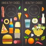 Nourriture saine Infographics Image libre de droits