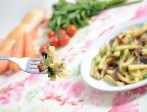 Nourriture saine - pâtes Photographie stock