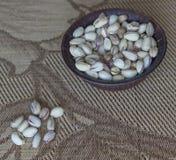 Nourriture saine pour la fin de fond d'image vers le haut des pistaches Texture sur la pistache d'?crous de vue sup?rieure sur l' photographie stock libre de droits
