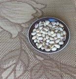 Nourriture saine pour la fin de fond d'image vers le haut des pistaches Texture sur la pistache d'?crous de vue sup?rieure sur l' photos libres de droits