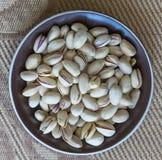 Nourriture saine pour la fin de fond d'image vers le haut des pistaches Texture sur la pistache d'?crous de vue sup?rieure sur l' photos stock