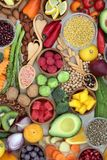 Nourriture saine pour le bien-être Photos libres de droits