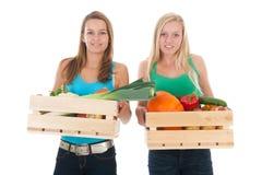 Nourriture saine pour les filles de l'adolescence Photographie stock