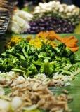 Nourriture saine : salade et légume Photographie stock libre de droits