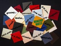 Nourriture saine - signe Image stock
