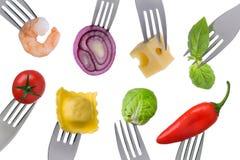 Nourriture saine sur le blanc Photo libre de droits