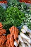 Nourriture saine sur le marché traditionnel images libres de droits