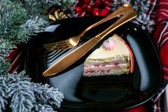 Nourriture savoureuse de dessert dans la fin   photo stock
