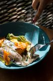 Nourriture savoureuse et saine Une belle portion de nourriture Nourriture du restaurant photo stock