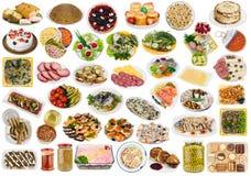 Nourriture simple dans le style rustique image stock