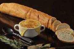 Nourriture : soupe française aux syndicats Photo stock