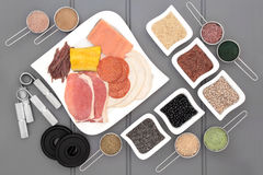 Nourriture superbe de musculation Images stock