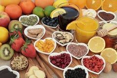Nourriture superbe pour le remède froid Photographie stock libre de droits