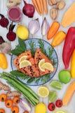 Nourriture superbe pour un coeur sain Images libres de droits