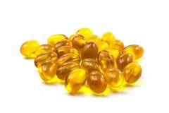 Nourriture supplémentaire - capsules Omega-3 Photos libres de droits