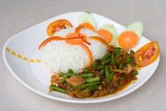 Nourriture thaïe épicée Images libres de droits