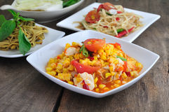Nourriture thaïe épicée Image libre de droits