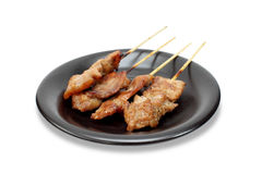 Nourriture thaïe de gril de porc Photo stock