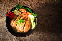 Nourriture thaïe - friture #6 de Stir Goong de Tom Yum photographie stock