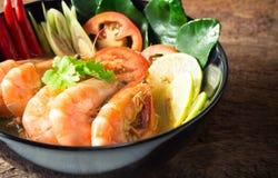 Nourriture thaïe - friture #6 de Stir Goong de Tom Yum image libre de droits