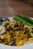 Nourriture thaïe - friture #6 de Stir Nouilles thaïlandaises faites sauter à feu vif Images libres de droits