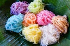 Nourriture thaïlandaise asiatique de nourriture colorée Photographie stock
