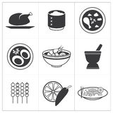 Nourriture thaïlandaise d'icône illustration de vecteur