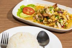 Nourriture thaïlandaise de crevette, nourriture thaïlandaise Images libres de droits