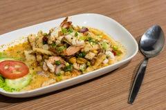 Nourriture thaïlandaise de crevette, nourriture thaïlandaise Image libre de droits