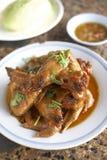 Nourriture thaïlandaise de poulet Photo libre de droits