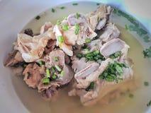 Nourriture thaïlandaise de soupe à os de porc Image libre de droits